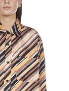 Marni Stripes Printed Silk Shirt Dress - Black