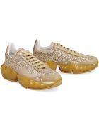 Jimmy Choo Diamond F Glitter Sneakers - Gold