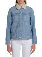 Calvin Klein Jeans Omega Sherpa Trucker Jacket - Blu