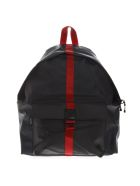 Eastpak Black And Red Padded Backpack In Technical Fabric - Black/red