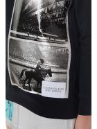 Calvin Klein Jeans Black Printed Bland Cotton Sweatshirt - Black