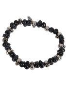 Alexander McQueen Black Brass Bracelet - 0446+ANTHRACITE/BLK