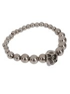 Alexander McQueen Silver-tone Steel Bracelet - Silver