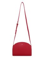 A.P.C. Demi-lune Leather Crossbody Bag - red