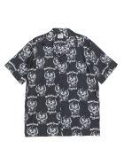 SSS World Corp 'snaggletooth' Shirt - Nero bianco