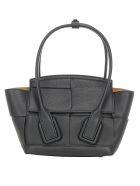 Bottega Veneta The Arco Mini Handbag - Nero/silver