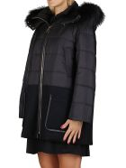 Agnona Black Padded Coat - Black