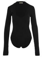 Bottega Veneta Stretch Wool Bodysuit - BLACK