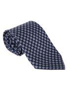 Salvatore Ferragamo Patterned Tie - Marine/light blue