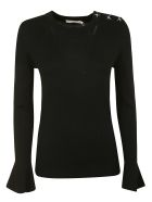 Tory Burch Bijoux Button Sweater - black