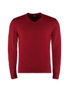 Drumohr V-neck Wool Sweater - red