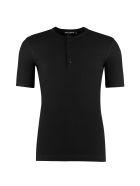 Dolce & Gabbana Ribbed Cotton Crew-neck T-shirt - black