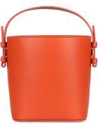 Nico Giani Adenia Leather Bucket Bag - Orange
