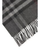 Burberry Giant Check Scarf - CHARCOAL (Grey)