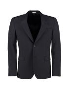 Alexander McQueen Single-breasted Two Button Jacket - blue