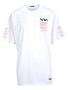 HERON PRESTON Nasa Oversized T-shirt Ss Facts - WHITE/MULTI