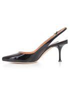 Sergio Rossi Slingback Pointed Toe Pumps - Black