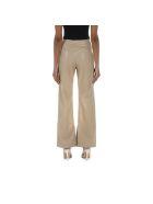 Nanushka Vegan Leather Pants Rhyan - NEUTRALS