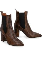 Paris Texas Leather Ankle Boots - Animalier