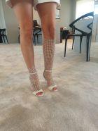 René Caovilla Galaxia Sandals - White