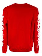 MSGM Multi Logo Print Sweatshirt - Scarlet/White/Black