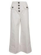 self-portrait Self-portrait Cropped Trousers - Ivory
