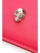 Alexander McQueen Skull Credit Card Holder - ORCHID PINK NEW RED (Fuchsia)