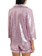 In The Mood For Love Sofia Sequined Pyjama Blazer - Rosa