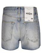 Rag & Bone High Rise Shorts - Denim