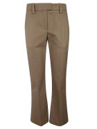 Brunello Cucinelli Belted Waist Trousers - Army