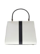 Valextra White Iside Mini Bag In Leather - White