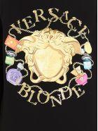 Versace 'blonde Medusa' Sweatshirt - Black