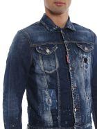 Dsquared2 Distressed Jacket - Blue