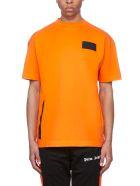 Palm Angels Short Sleeve T-Shirt - Arancio nero