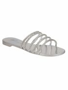 Giuseppe Zanotti Embellished Sandals - Metal Silver