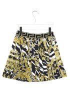Young Versace 'barocco Icon' Skirt - Multicolor
