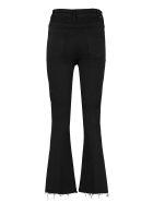 Mother Hustler Ankle Fray Jeans - black