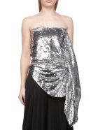 Paula Knorr Sequined Top - Silver bianco