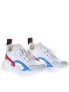 Stella McCartney White Eclypse Sneakers In Faux Leather - White/red/blue