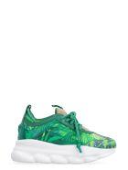 Versace Chain Reaction Low-top Sneakers - green