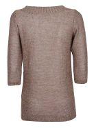 Charlott Ribbed Knit Top - Rosa Lurex