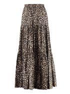 La DoubleJ Printed Cotton Maxi Skirt - Beige