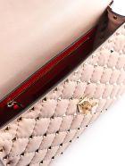 Valentino Garavani Rockstud Spike Md Shoulder Bag - Poudre
