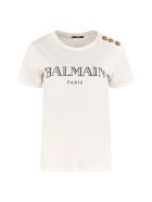 Balmain Logo Cotton T-shirt - White