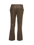 Kiltie & Co. Plaid Cropped Tailored Trousers - Moro