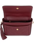 Tory Burch Fleming Leather Handbag - Burgundy