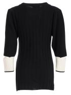 Eudon Choi Knitted Sweater - Black Off White