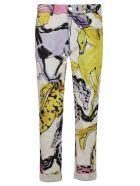 Stella McCartney All-over Animal Print Jeans - White