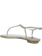 René Caovilla Diana Thong Sandals - Silver