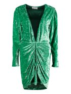 The Attico Embellished Velvet Dress - Verde